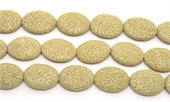 Lava cream 34x16mm flat Oval EACH BEAD-lava-Beadthemup