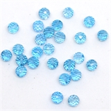 Blue Topaz Faceted round 4mm EACH BEAD-blue topaz-Beadthemup