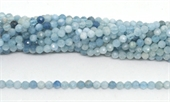 Aquamarine Faceted Round 5mm strand 80 beads-beryl and morganite-Beadthemup