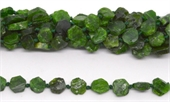 Chrome Diopside Flat Slice app 11x11mm Strand 31 beads-chrome diopside-Beadthemup