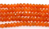 Carnelian Faceted Rondel 9x5mm EACH BEAD-gemstone beads-Beadthemup