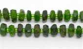 Chrome Diopside Faceted Rondel 10x4mm EACH BEAD-chrome diopside-Beadthemup