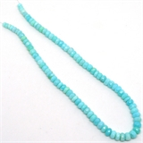 Peruvian Opal Faceted Rondel Graduated 6-9mm app 92 beads -gemstone beads-Beadthemup