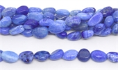 Agate Dyed blue crackled nugget app 11x15mm strand 30 beads-agate-Beadthemup