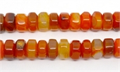 Orange Agate Rondel 15x9mm strand 43 beads-agate-Beadthemup