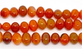 Orange Agate Polished side drill oval 18x12mm strand 32 beads-agate-Beadthemup