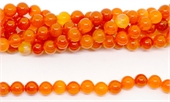 Orange Agate Polished Round 12mm strand 37 beads-agate-Beadthemup