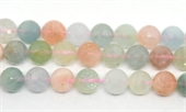 Beryl Faceted Round 14mm strand 30 beads-beryl and morganite-Beadthemup