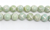 Amazonite with Crystals X design 14mm EACH-gemstone beads-Beadthemup
