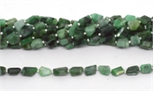 Emerald Faceted Nugget 9x7mm strand 28 beads-emerald-Beadthemup