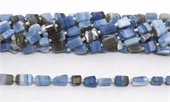 Blue Opal Faceted Nugget 9x7mm strand 28 beads-gemstone beads-Beadthemup