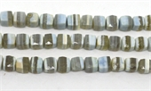 Blue Opal Faced Cube 8.5mm EACH BEAD-gemstone beads-Beadthemup