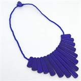 Lapis Spear Necklace center stone 80mm 50cm long-gemstone beads-Beadthemup