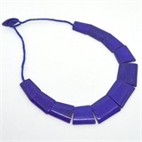 Lapis trapezoid Necklace center stone 40x32mm 50cm long-gemstone beads-Beadthemup