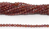 Garnet Faceted flat round 3.25mm strand 100 beads-gemstone beads-Beadthemup