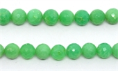 Chrysophase Faceted round 9mm EACH BEAD-beads incl pearls-Beadthemup