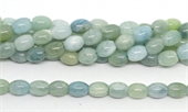 Aquamarine Polished Barrel 10x13mm strand 29 beads-gemstone beads-Beadthemup