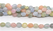 Beryl Polished Nugget 14x14mm strand 29 beads-beryl and morganite-Beadthemup