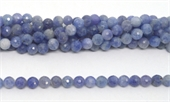 Sapphire Faceted round 8mm strand 53 beads-gemstone beads-Beadthemup