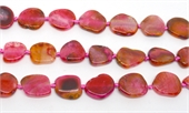 Agate slice fuschia approx 25x19mm EACH BEAD-agate-Beadthemup