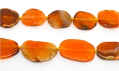 Agate slice Orange approx 36x30mm EACH BEAD-agate-Beadthemup