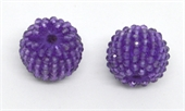 Amethyst 13x15mm woven 2mm beaded bead EACH-beads incl pearls-Beadthemup