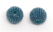Topaz Coated 13x15mm woven 2mm beaded bead EACH-beads incl pearls-Beadthemup