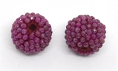 Ruby Natural 13x15mm woven 2mm beaded bead EACH-beads incl pearls-Beadthemup