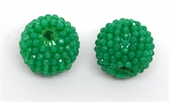 Green Onyx 13x15mm woven 2mm beaded bead EACH-beads incl pearls-Beadthemup