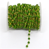 Chrome Diopside app 4mm Pol round Vermeil handmade Chain per Meter-beads incl pearls-Beadthemup