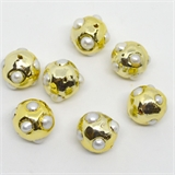 Gold plate F.W.Pearl Bead 20mm EACH BEAD-beads incl pearls-Beadthemup