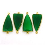 Vermeil Green Onyx Pendant 35x15mm EACH PIECE-beads incl pearls-Beadthemup