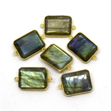 Vermeil Labradorite Connector 28x16mm EACH PIECE-beads incl pearls-Beadthemup