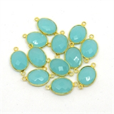 Vermeil Chalcedony Connector 20x12mm EACH PIECE-beads incl pearls-Beadthemup