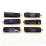 Vermeil Sapphire Dyed Pendant 35x12mm EACH PIECE-beads incl pearls-Beadthemup
