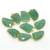 Vermeil Amazonite Pendant 22x14mm EACH PIECE-beads incl pearls-Beadthemup