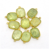Vermeil Prehnite Connector 20x14mm EACH PIECE-beads incl pearls-Beadthemup