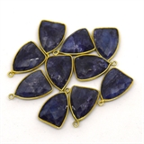 Vermeil Sapphire Dyed Pendant 22x15mm EACH PIECE-beads incl pearls-Beadthemup