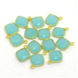 Vermeil Chalcedony Pendant 18x16mm EACH PIECE-beads incl pearls-Beadthemup