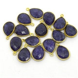 Vermeil Sapphire Dyed Pendant 20x14mm EACH PIECE-beads incl pearls-Beadthemup