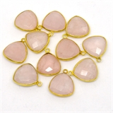 Vermeil Rose Quartz Pendant 19x16mm EACH PIECE-beads incl pearls-Beadthemup