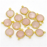 Vermeil Rose Quartz Connector 20x16mm EACH PIECE-beads incl pearls-Beadthemup
