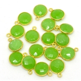 Vermeil Chalcedony Pendant 15x12mm EACH PIECE-beads incl pearls-Beadthemup