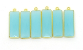 Vermeil Chalcedony Pendant 35x11mm EACH PIECE-beads incl pearls-Beadthemup