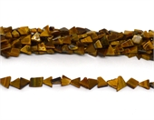 Tiger Eye Flat Triangle mix shape 10x5mm strand 51 beads-beads incl pearls-Beadthemup