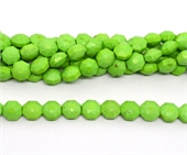 Dyed Green Jade Faceted Octogon 12x12mm strand 32 beads-beads incl pearls-Beadthemup
