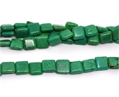 Dyed Howlite Turquiose Square 14mm strand 29 beads-beads incl pearls-Beadthemup