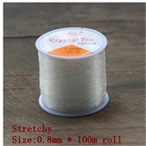 Elastic 0.8 roll approx 100 m-stringing-Beadthemup