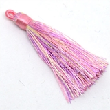 Tassel 75mm Pink Mouve Multi Colour EACH-tassels-Beadthemup