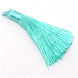 Tassel 75mm Light Teal EACH-tassels-Beadthemup